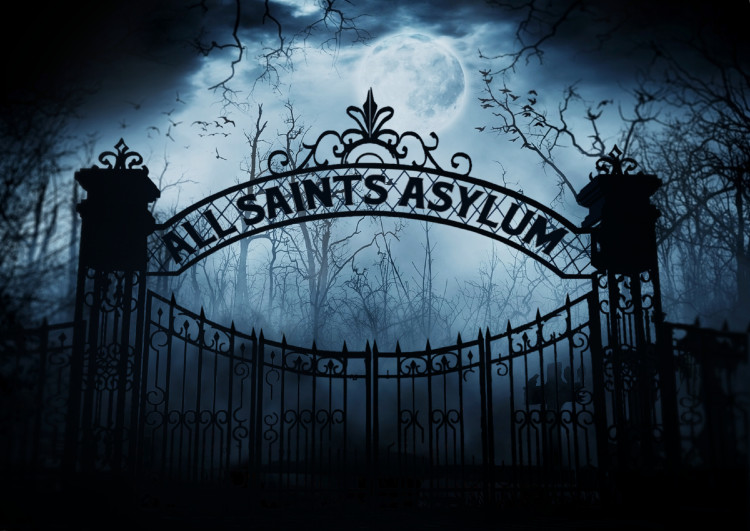 All Saints Asylum gate graphic