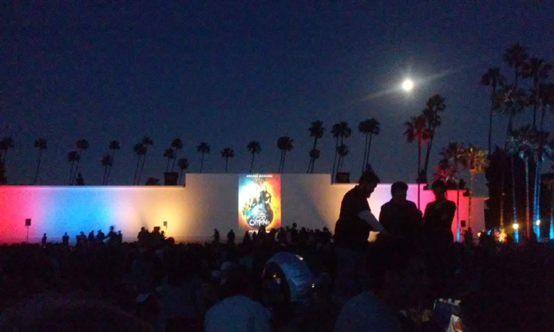 Hollywood Forever Cemetery outdoor movie screening