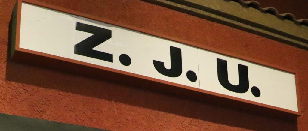 Zombie Joe's Underground Theatre Group marquee
